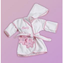 Personalized Hooded Cover-Up baby gift for girls with daises design
