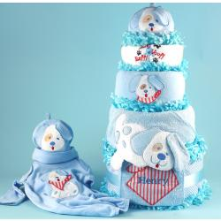 Puppy Love Diaper Cake Personalized Baby Gift