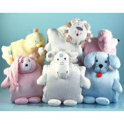 Assorted Blankie Buddie baby blankets by Silly Phillie