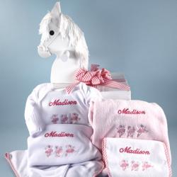 Name & Motif layette Customized & Personalized Baby Girl Gift