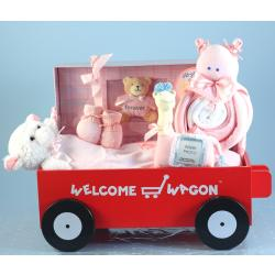 Deluxe Welcome Wagon with Forever Baby Book Keepsake Album