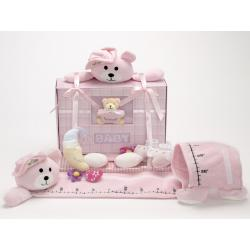 Forever Baby Book  & Growth Chart Gift Set -Girl