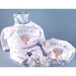 Baby's first Chanukah outfit & bib baby gift