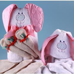 My Little Bunny Rabbit Hooded Towel Personalized Baby Girl Gift c070d68bf