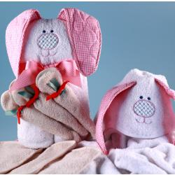 Hooded Towel with buddy character hood and 3 washcloths