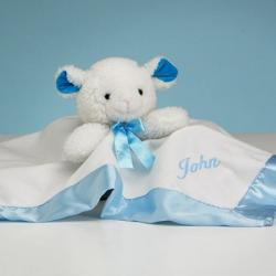Personalized baby gift basket little sport by silly phillie personalized lamb snuggly baby boy gift negle Image collections