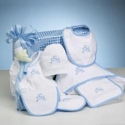 Personalized baby gift-deluxe baby boy layette set