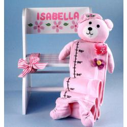 Step Stool & Growth Chart Personalized Baby Girl Gift