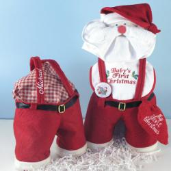Baby's First Christmas Personalized Santa's Gift Set