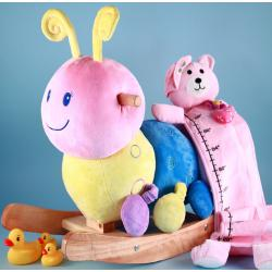 Caterpillar Plush Rocker Gift Set-Girl