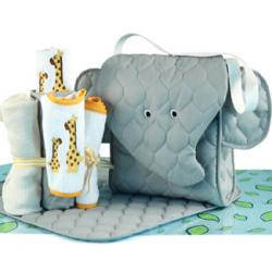 Elephant Diaper Tote Baby Gift Set