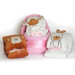 Plush Diaper Cradle Baby Girl Gift Set