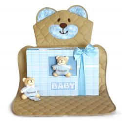 Baby Boy Gift Set of bear changing mat & keepsake photo album