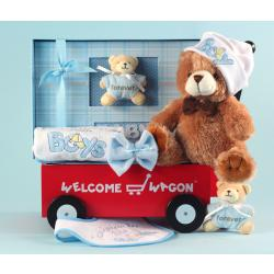Newborn Welcome Wagon Baby Boy Gift Set