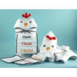My Little Chickie Hooded towel baby gift set by Silly Phillie