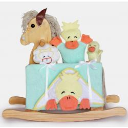 Natural Rocking Horse Unisex Baby Gift Set