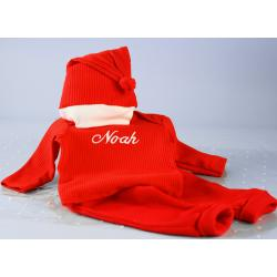 Little Santa Outfit & Hat Set Personalized for Baby